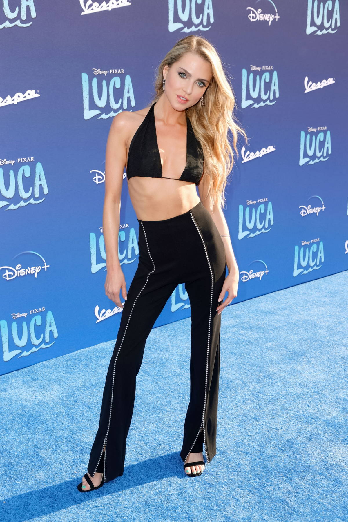 """Anne Winters attends the World Premiere Of Disney's """"Luca"""" at El Capitan Theatre in Los Angeles"""