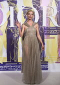 Anya Taylor-Joy dazzles in a sheer gold gown at the Dior Cruise fashion show in Athens, Greece