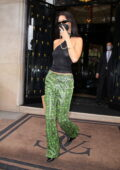 Bella Hadid looks radiant in a see-through top as she steps out in Paris, France