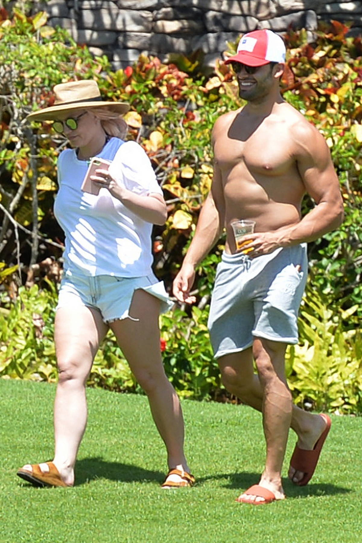 Britney Spears looks happy and relaxed as she enjoys a couples getaway with boyfriend Sam Asghari in Maui, Hawaii