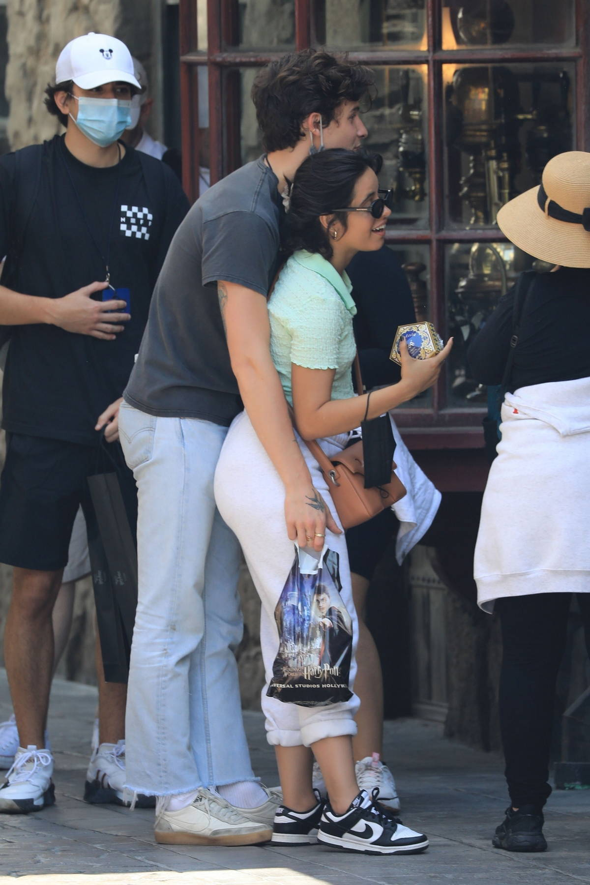 Camila Cabello and Shawn Mendes enjoy a day at Universal Studios in Los Angeles