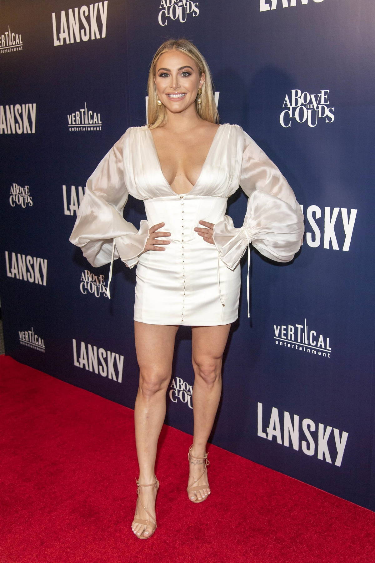 Cassie Scerbo attends the Premiere of 'Lansky' at Harmony Gold Theatre in Los Angeles