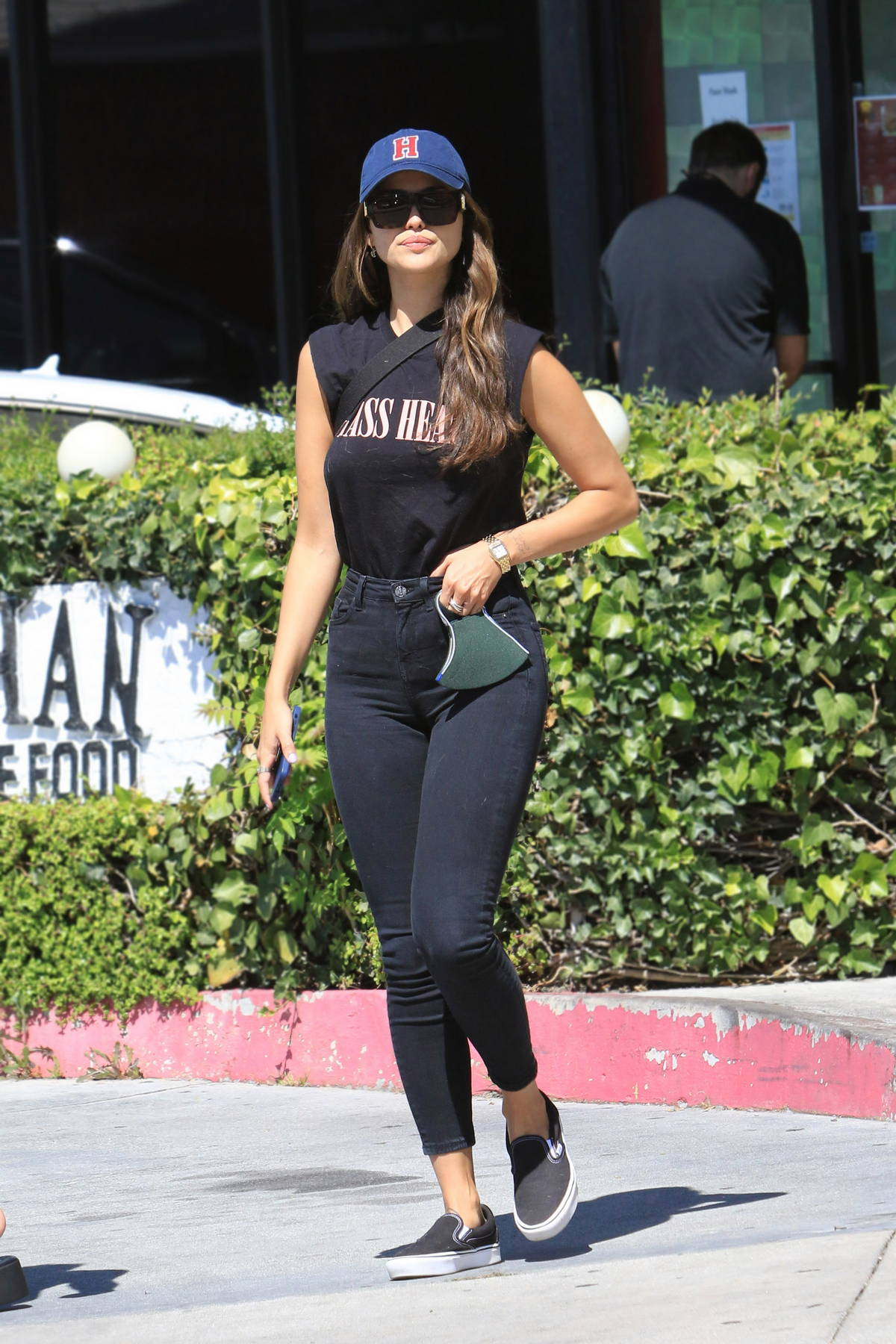 Eiza Gonzalez grabs lunch with friends before picking up her dogs at a daycare center in Los Angeles
