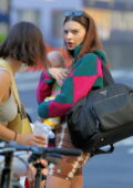 Emily Ratajkowski spotted heading out with her son Sylvester carrying a Prada day bag in New York City