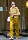 Gigi Hadid looks stylish in all-yellow ensemble while visiting a salon in New York City