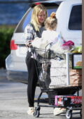 Hilary Duff brings her kids along as she goes grocery shopping in Los Angeles