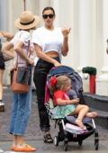 Irina Shayk visits SlooMoo Institute with her daughter in New York City