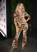 Jasmine Sanders attends UOMA Pride Month and Juneteenth Celebration launch event in West Hollywood, California