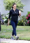 Jennifer Garner goes on a morning coffee walk with a friend in Brentwood, California