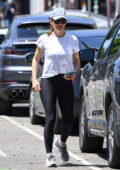 Jennifer Garner takes her daughter Seraphina to pick up an acai beverage in Santa Monica, California