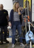 Jennifer Lawrence spotted while reshooting for her upcoming movie 'Red, White and Water' in New Orleans, Louisiana