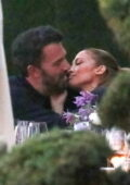 Jennifer Lopez and Ben Affleck pack on some serious PDA during a family dinner at Nobu in Malibu, California