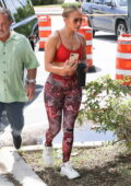 Jennifer Lopez displays her famous curves as she hits the gym in Miami, Florida