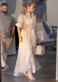 Jennifer Lopez seen leaving after her visit to Wildwood School Independent school in Los Angeles