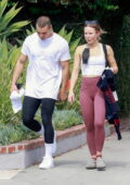 Kristen Bell and Benjamin Levy Aguilar seen leaving together after a workout session in Los Feliz, California