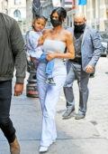 Kylie Jenner looks fab in all-white while stepping out with her daughter Stormi in New York City