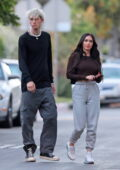 Megan Fox and Machine Gun Kelly attend a family members' graduation ceremony in Sherman Oaks, California