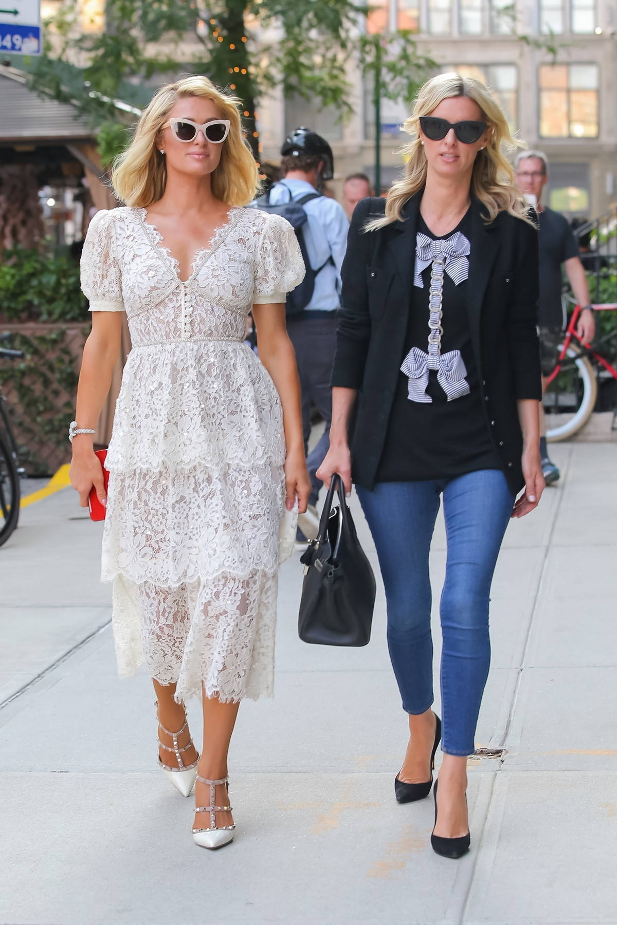 Nicky and Paris Hilton put on a stylish display as they step out together in New York City