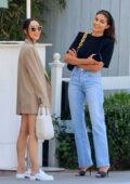 Olivia Culpo and Cara Santana enjoy lunch at San Vicente Bungalows in West Hollywood, California