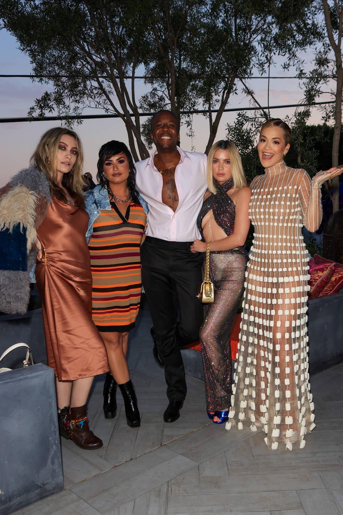 Rita, Ora, Demi Lovato, Paris Jackson and Ashley Benson attend Vas J Morgan's PRIDE 2021 party In Los Angeles, California