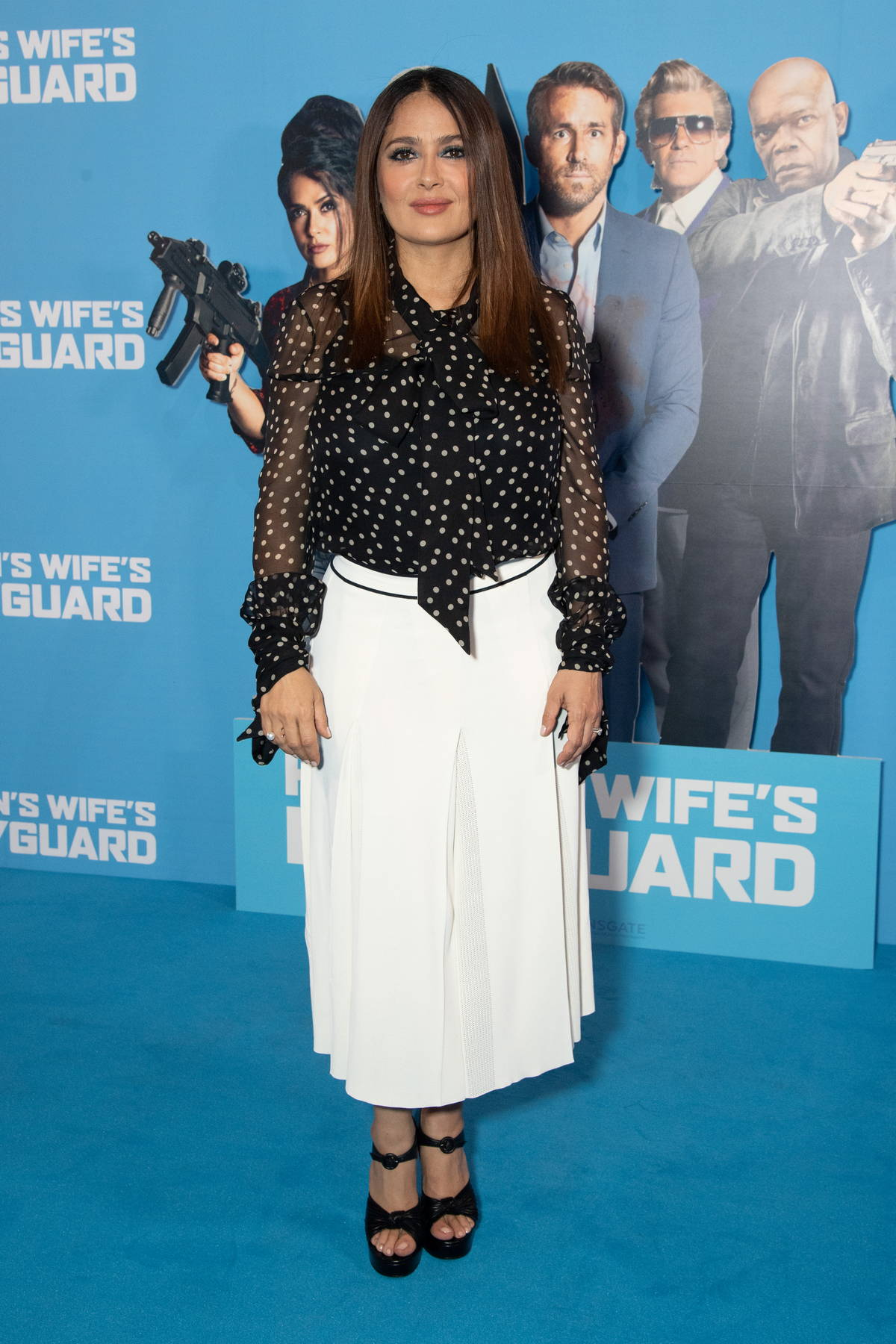 """Salma Hayek attends a Special Screening of """"Hitman's Wife's Bodyguard"""" at Cineworld Leicester Square in London, UK"""