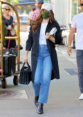 Sophia Bush and boyfriend Grant Hughes spotted as they leaves their hotel and head to the airport in New York City