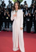 Adele Exarchopoulos attends the screening of 'De Son Vivant' during the 74th annual Cannes Film Festival in Cannes, France