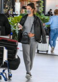 Alessandra Ambrosio keeps it cozy in a sweatsuit as she and Richard Lee touch town at Florianópolis, Brazil