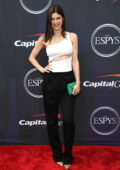 Alexandra Daddario attends the 2021 ESPY Awards at Rooftop At Pier 17 in New York City