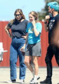 Amanda Seyfried spotted on the set of the upcoming miniseries 'The Dropout' in Los Angeles