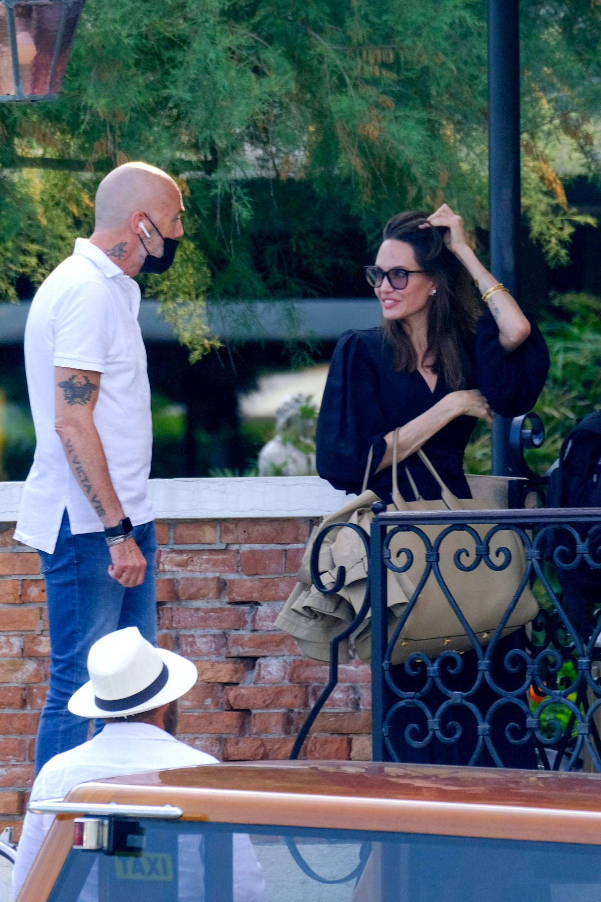 Angelina Jolie looks chic as ever while she arrives in Venice, Italy