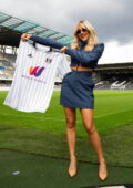 Ashley Roberts attends the World Mobile and Fulham FC Partnership Brunch in London, UK