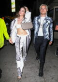 Barbara Palvin flaunts her midriff while heading to a Bleach London event with boyfriend Dylan Sprouse in Los Angeles