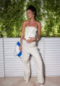 Bella Hadid attends the Dior dinner during the 74th annual Cannes Film Festival in Cannes, France