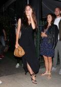 Camila Morrone looks classy in a black dress while out for dinner at Giorgio Baldi in Santa Monica, California