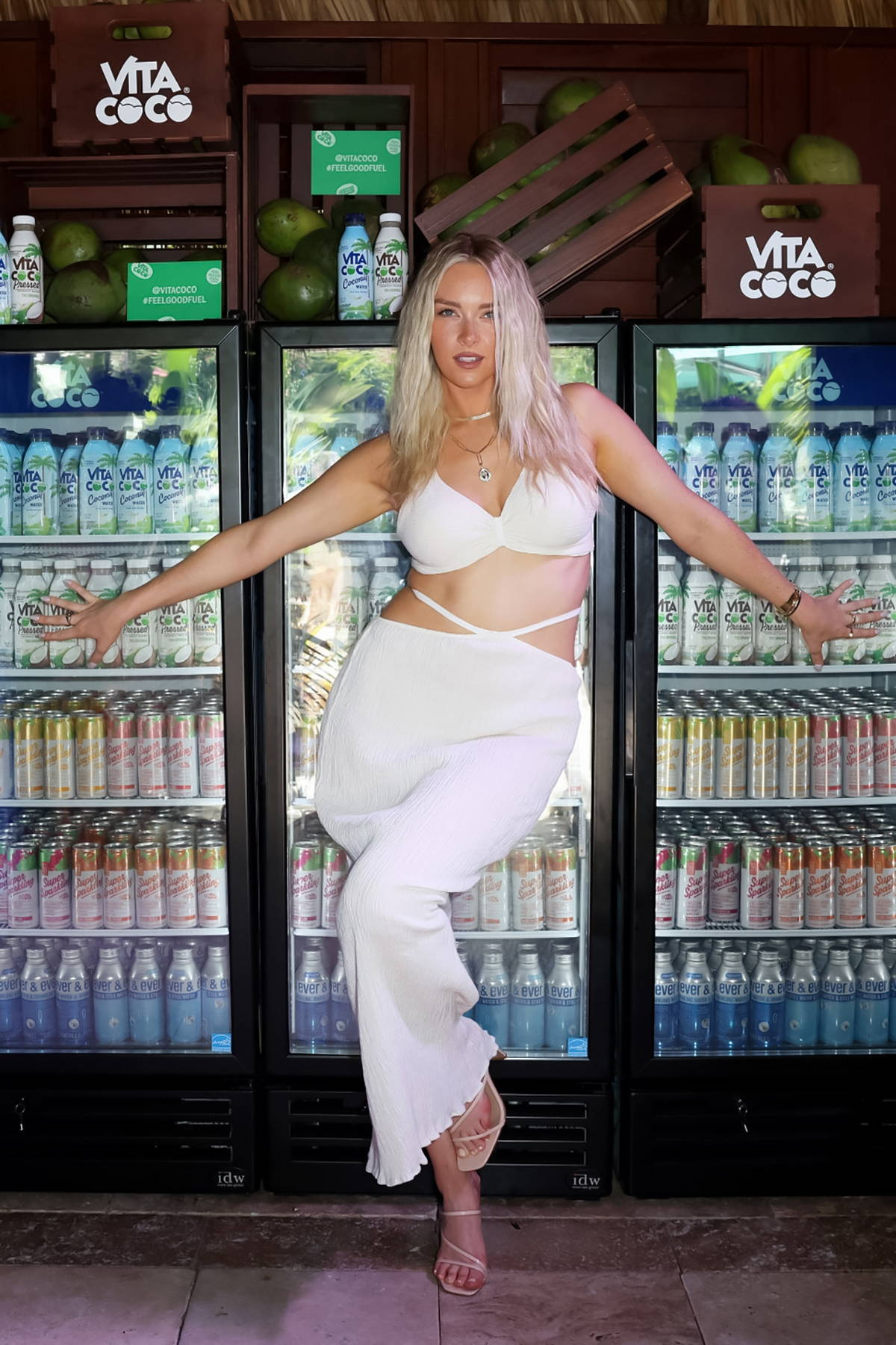 Camille Kostek attends the 2021 Sports Illustrated Swimsuit Edition launch event in Hollywood, Florida