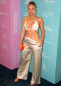 Camille Kostek attends the Sports Illustrated Swimsuit 2021 Issue Concert at Hard Rock Live in Hollywood, Florida