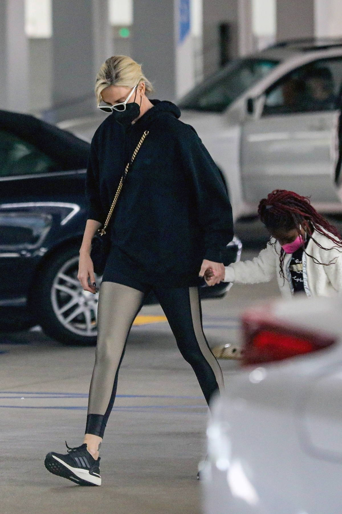 Charlize Theron takes her daughter to Eataly for some shopping at the Westfield Century City mall in Los Angeles