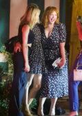 Christina Hendricks, Kiernan Shipka, and January Jones step out for dinner in Los Angeles