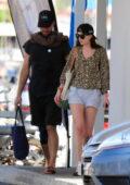 Dakota Johnson and Chris Martin seen out during a romantic holiday in Palma De Mallorca, Spain