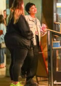 Demi Lovato is all smiles while out for ice cream with friends in Larchmont Village, California