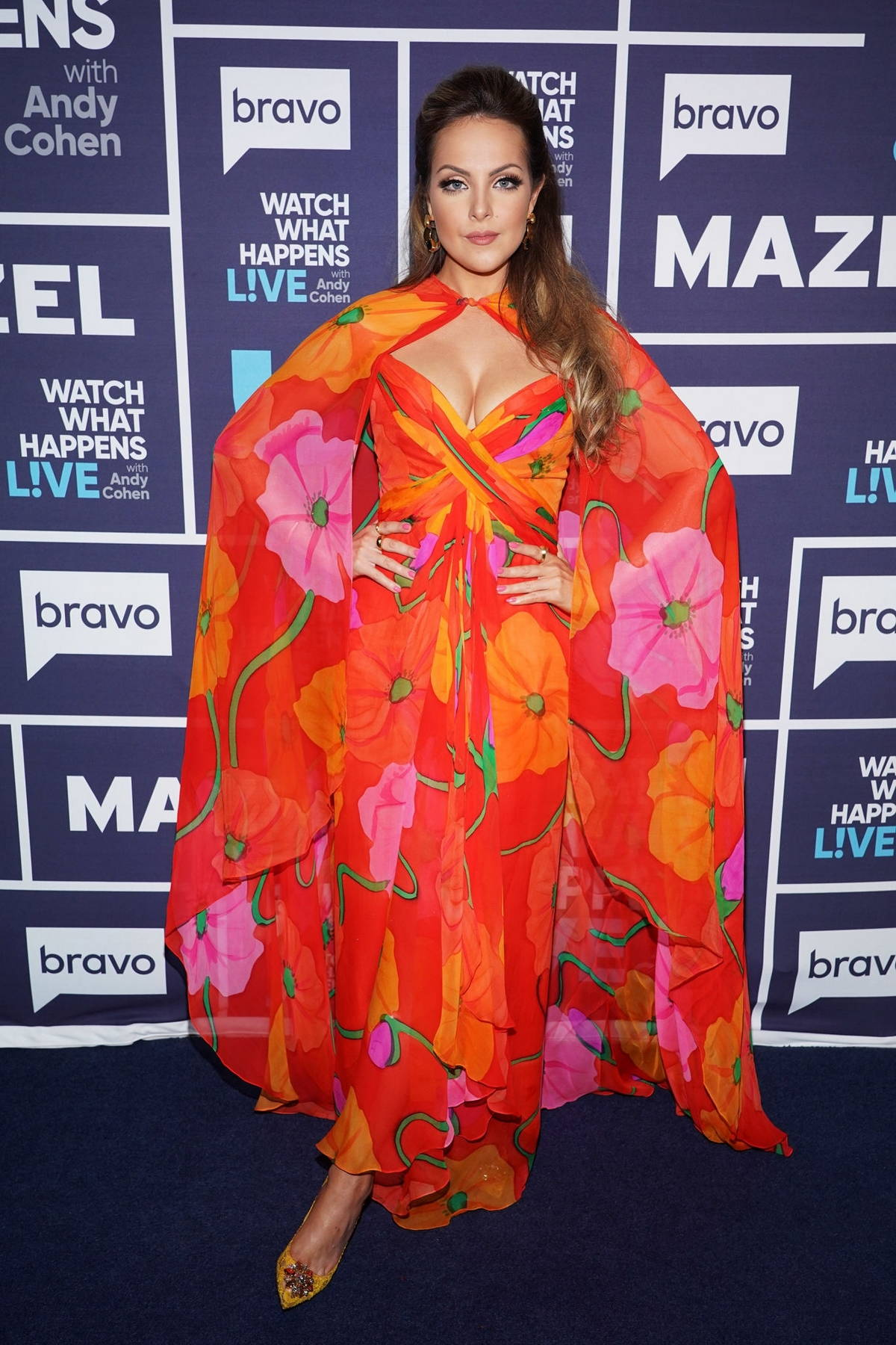 Elizabeth Gillies makes an appearance on 'Watch What Happens Live' in New York City