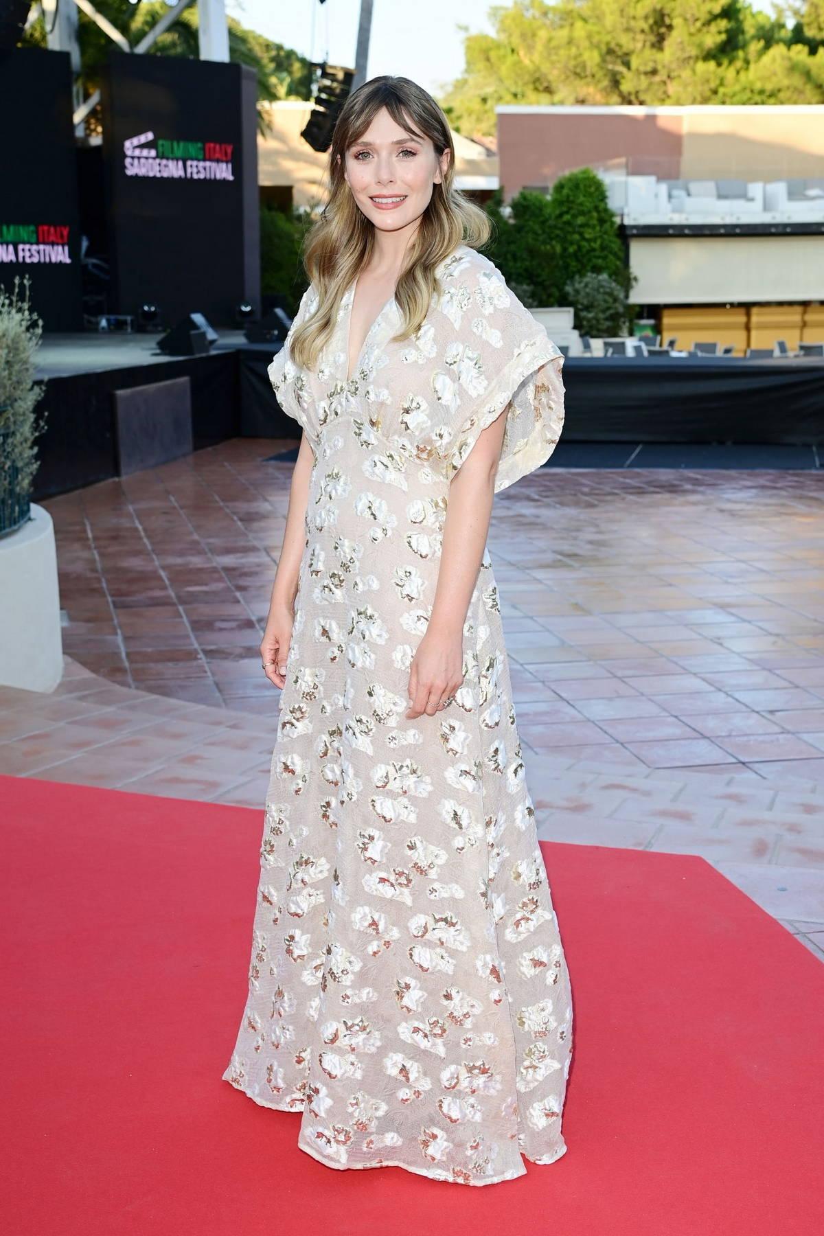 Elizabeth Olsen attends the Filming Italy Festival in Santa Margherita di Pula, Italy