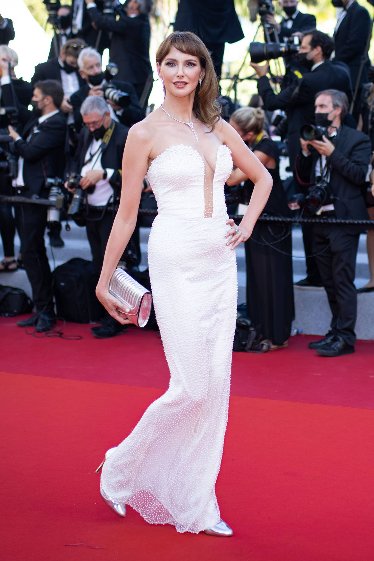 Frederique Bel attends the Premiere of 'Benedetta' during the 74th annual Cannes Film Festival in Cannes, France