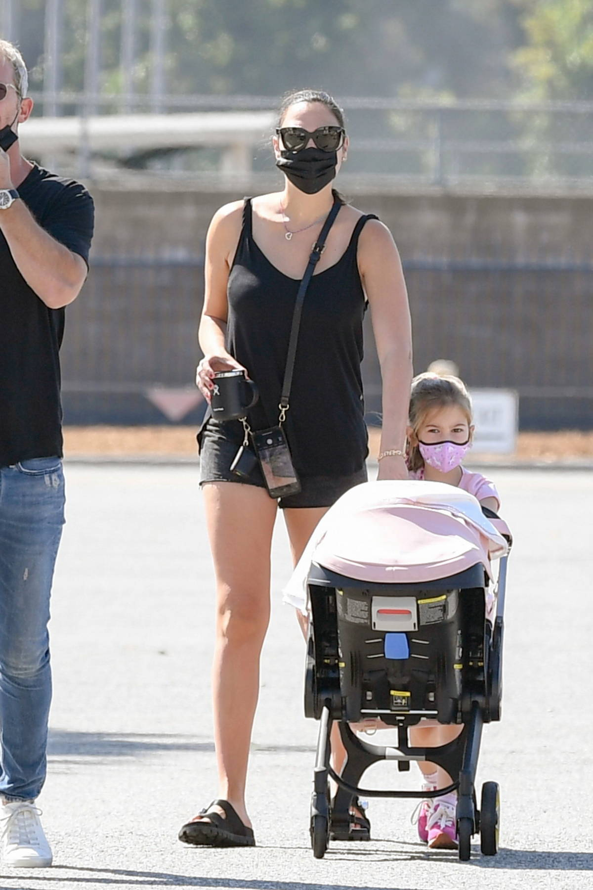 Gal Gadot and her husband Yaron Varsano take baby Danielle to get a passport in Los Angeles
