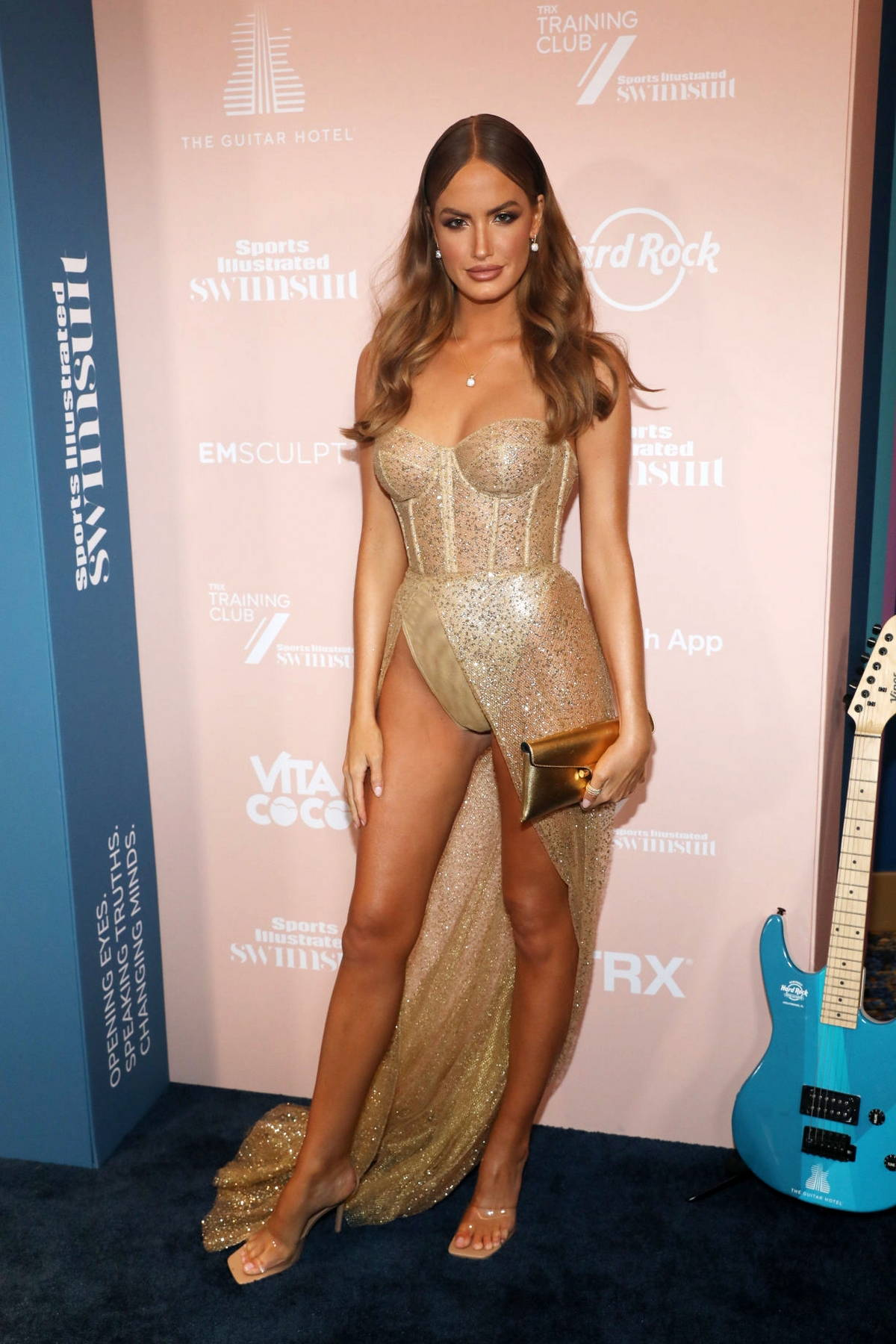 Haley Kalil attends the Sports Illustrated Swimsuit 2021 Issue Concert at Hard Rock Live in Hollywood, Florida