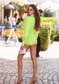 Izabel Goulart flaunts her mile-long legs as she leaves Martinez Hotel during the 74th Cannes Film Festival in Cannes, France