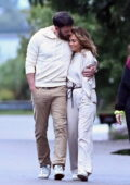 Jennifer Lopez and Ben Affleck enjoy a romantic stroll together in the Hamptons, New York