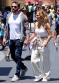 Jennifer Lopez and Ben Affleck hold hands while enjoying a day out with their kids at Universal Studios in Los Angeles