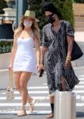 Jennifer Lopez looks fab in a white mini dress while enjoying a shopping day in Monaco